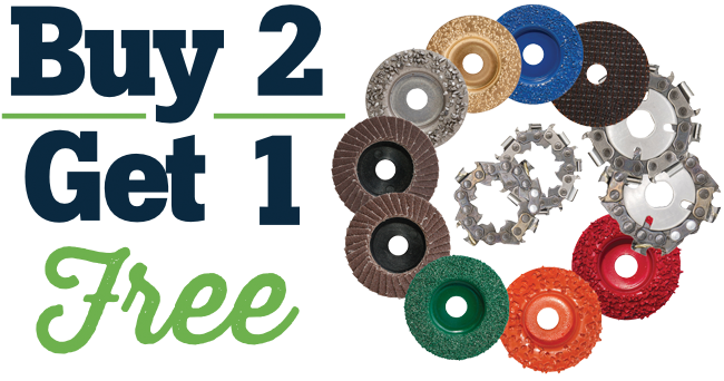 Buy 2 Get 1 Free on Discs